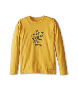 Life is good Kids Crusher L/S Explore Tee Boys Long Sleeve Pullover (Gold)