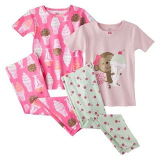 Just One You by Carters Infant Toddler Girls 4 Piece Short Sleeve Ice Cream