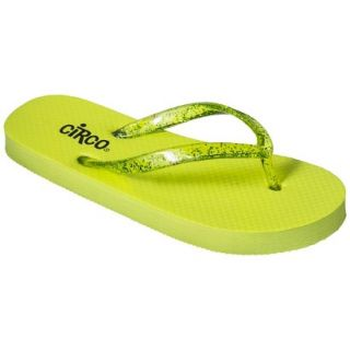 Girls Circo Hillary Flip Flop Sandals   Lime Green XL