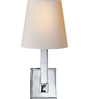 E.F. Chapman Square Tube 1 Light Wall Sconces in Polished Nickel SL2819PN NP