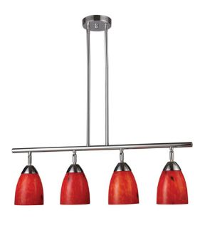 Celina 4 Light Island Lights in Polished Chrome 10153/4PC FR
