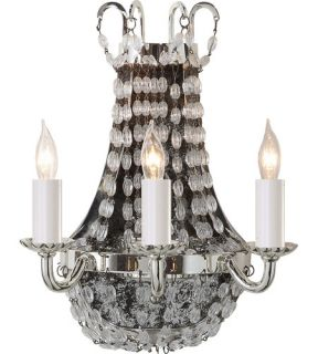 E.F. Chapman Paris Flea Market 3 Light Wall Sconces in Polished Silver CHD1409PS SG