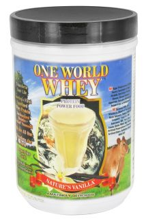 One World Whey   Protein Power Food Natures Vanilla   1 lb.