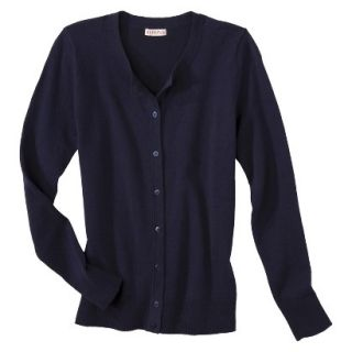 Merona Womens Ultimate Long Sleeve Crew Neck Cardigan   Xavier Navy   M