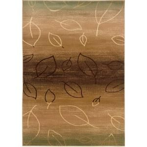 LR Resources Contemporary Light Brown and Light Moss 1 ft. 10 in. x 3 ft. 1 in. Plush Indoor Area Rug LR80903 BWMO23