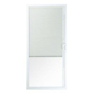 American Craftsman 50 Series 6/0, 35 12 in. x 77 12 in. White Vinyl Right Hand Moving Door Panel with Blinds 50 PD B