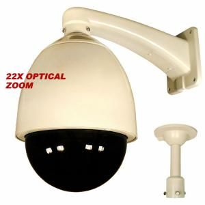 Security Labs 600 TVL CCD 22X Pan Tilt Zoom Weatherproof Dome Surveillance Camera with Heater and Blower SLC 177