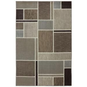 Mohawk Home Huskers Dark Beige 8 ft. x 11 ft. Area Rug 385606