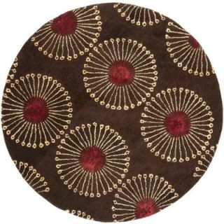 Safavieh Soho Coffee/Brown 6 ft. x 6 ft. Round Area Rug SOH821B 6R