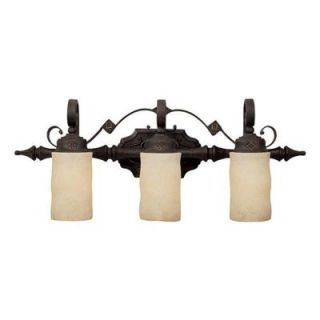 Filament Design Johnson Collection 3 Light Rustic Iron Rust Scavo Glass Vanity CLI CPT203395710