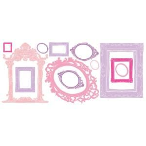 18 in. x 40 in. Pink and Purple Frames 12 Piece Peel and Stick Giant Wall Decals RMK2043GM