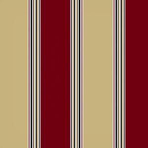 Hampton Bay Chili Stripe Outdoor Fabric by the Yard JC33540 D10
