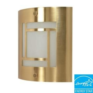 Glomar Green Matters 1 Light Brushed Brass Wall Sconce HD 949