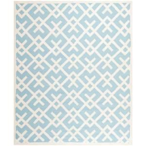 Safavieh Dhurries Light Blue/Ivory 8 ft. x 10 ft. Area Rug DHU552B 8