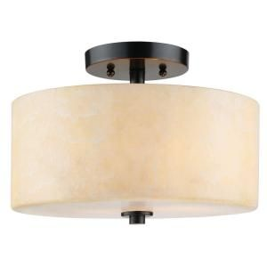 Cordova Collection 2 Light Bronze Semi Flush 18406 001