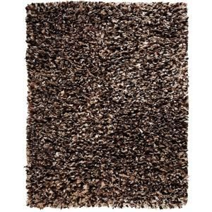 Anji Mountain Confetti Brown and White 5 ft. x 8 ft. Shag Area Rug AMB0452 0058