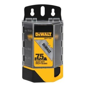 DEWALT Heavy Duty Blades for Utility Knives (75 Pack) DWHT11004