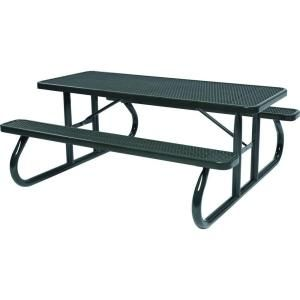 Tradewinds Park 8 ft. Black Commercial Picnic Table HD D111GS BK