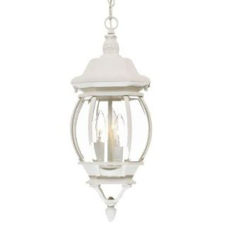 Acclaim Lighting Chateau Collection Hanging Lantern 3 Light Outdoor Textured White Light Fixture 5160TW