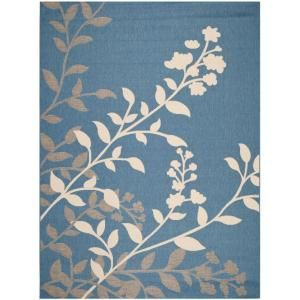 Safavieh Courtyard Blue/Beige 8 ft. x 11 ft. Area Rug CY7019 243 8
