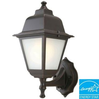 Hampton Bay Wall Mount 1 Light Outdoor Oil Rubbed Bronze Dusk to Dawn Lantern GFC1611P 2