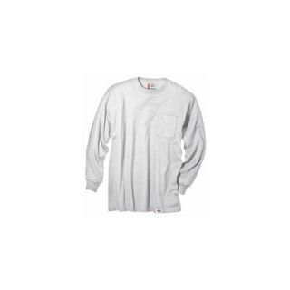 Dickies Extra Extra Large White Mens Long Sleeve T Shirt  WL511WH 2X Health
