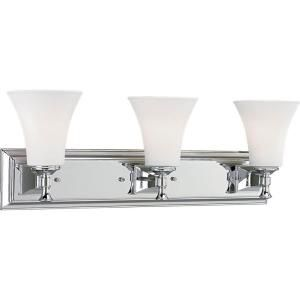 Progress Lighting Fairfield Collection 3 Light Chrome Bath Light P3133 15