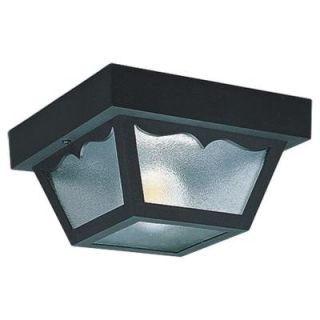 Sea Gull Lighting 1 Light Outdoor Clear Ceiling Fixture 7567 32