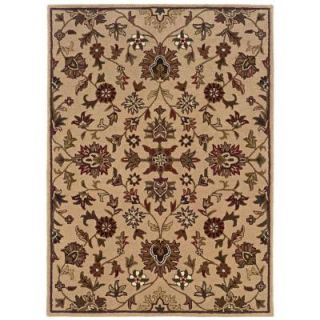 Linon Home Decor Trio Gold 5 ft. x 7 ft. Area Rug RUG TT0457