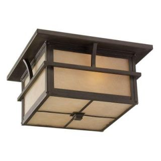 Sea Gull Lighting Medford Lakes Hanging/Ceiling Mount 2 Light Outdoor Statuary Bronze Ceiling Fixture 78880BLE 51