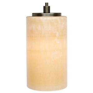 LBL Lighting Onyx Cylinder 1 Light Hanging Bronze Nickel Mini Pendant HS176ONBZ1B50MPT