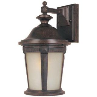 Hampton Bay Wall Mount Outdoor 9 in. Mystic Bronze Lantern HD798796