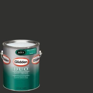 Glidden Team Colors 1 gal. #NFL 169A NFL Cincinnati Bengals Black Eggshell Interior Paint and Primer NFL 169A E 01