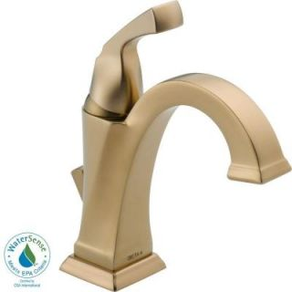 Delta Dryden Single Hole 1 Handle High Arc Bathroom Faucet in Champagne Bronze 551 CZ DST