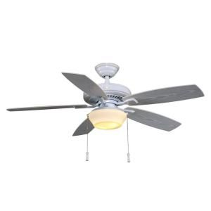 Hampton Bay Gazebo II 52 in. Indoor/Outdoor White Ceiling Fan YG188 WH