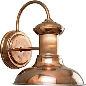 Progress Lighting Brookside Collection Copper 1 light Wall Lantern P5721 14
