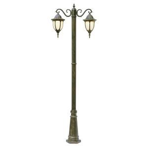 Filament Design Cabernet Collection 2 Light 93 in. Outdoor Rust Pole Lantern with White Opal Shade CLI WUP245807