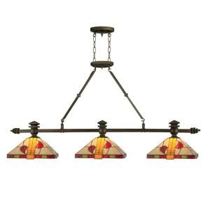 Dale Tiffany 3 Light Tiffany Island Rose Fixture TH12065