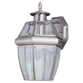 Sea Gull Lighting 1 Light Outdoor Brass Brush Wall Mount Lantern 8038 965