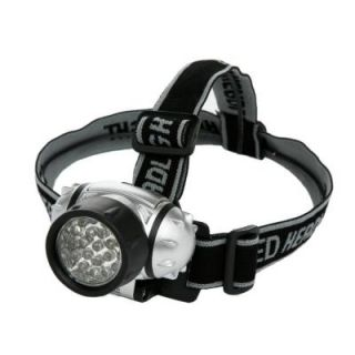 Designers Edge Battery Operated LED Lycra Headband Light   Black L1240