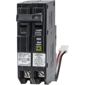 Square D by Schneider Electric QO 50 Amp 1.5 in. 2 Pole ILC Power Link Circuit Breaker QO250PLILC