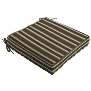 Hampton Bay Rea Stripe Quick Dry Outdoor Seat Cushion FD04955A 9D4