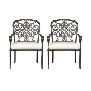 Hampton Bay Edington Patio Dining Chair with Bare Cushion (2 Pack) 131 012 DC2 NF