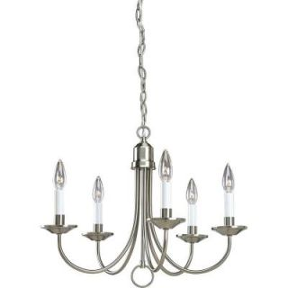 Progress Lighting 5 Light Brushed Nickel Chandelier P4008 09
