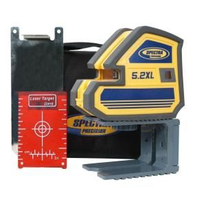 Spectra Precision Multi Purpose Self Leveling 5 Point and Cross Line Laser Level 5.2XL