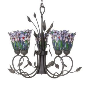 Dale Tiffany Tifffany Meadowbrook 5 Light Hanging Antique Bronze Chandelier DISCONTINUED STH11063