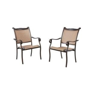 Hampton Bay Westbury Patio Sling Dining Chair (2 Pack) S2 ADQ27100