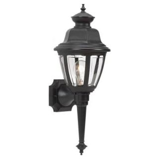 Sea Gull Lighting Belmar Wall Mount 1 Light Outdoor Black Fixture 88090 12