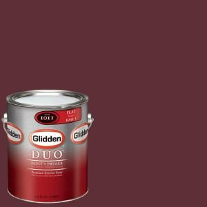 Glidden Team Colors 1 gal. #NFL 159B NFL Washington Redskins Burgundy Flat Interior Paint and Primer NFL 159B F 01