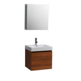 Virtu USA Zuri 22 3/8 in. Single Basin Vanity in Plum with Poly Marble Vanity Top in White and Medicine Cabinet Mirror JS 50324 PL